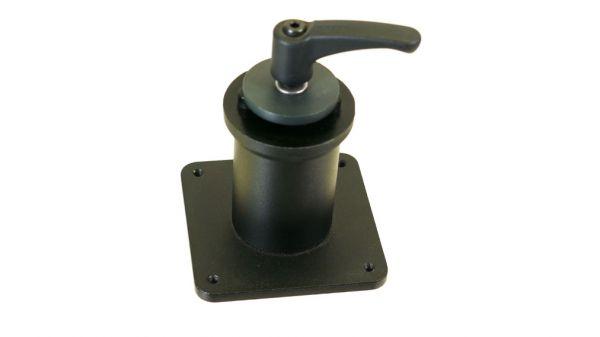 Tischplatten-Adapter 60x60, Zapfen 50 mm lang, Neigung 0°
