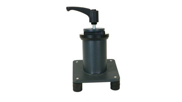 Tischplatten-Adapter 15° fest, mit Feststellhebel u. Gleitplatte
