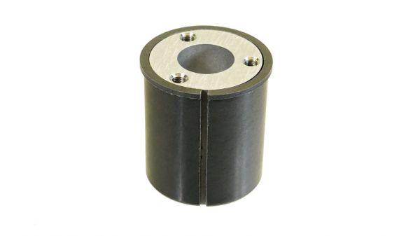 Gelenkzapfen 50 mm Alu eloxiert mit Gleitmuffe