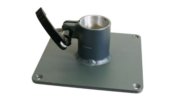 Base plate 160 mm x 160 mm with clamping tube